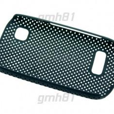 husa protectie mesh neagra Nokia Asha 200 silicon rigid antiradiatii + folie protectie ecran