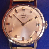 "* Ceas Marvin anii ""50 - New Old Stock - rar - Ceas dama, Elegant, Mecanic-Manual, Inox, Analog, 1940 - 1969"