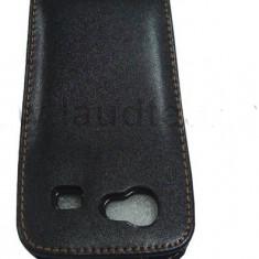Toc piele flip neagra Samsung Google Nexus S i9020 husa leather black - Husa Telefon Samsung, Universala, Negru, Cu clapeta