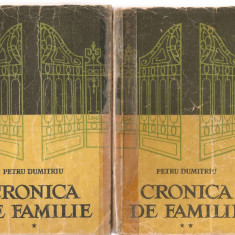 (C3574) CRONICA DE FAMILIE DE PETRU DUMITRIU, VOL. 1,2,3, EDITURA E.S.P.L.A., 1958