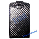 Toc piele flip neagra HTC G8 husa leather black + folie ecran case cover expediere gratuita, Cu clapeta