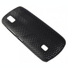 husa protectie mesh neagra Nokia Asha 300 silicon rigid antiradiatii + folie protectie ecran