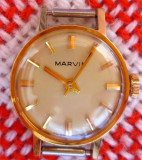 * Ceas Marvin 1945-1955 - New Old Stock - rar - placat aur, Lux - elegant, Mecanic-Manual, Placat cu aur