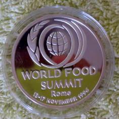 *  Moneda 100 lei 1996 - FAO -  argint  proof