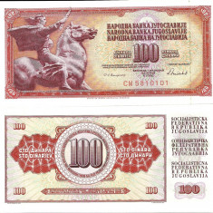 IUGOSLAVIA- 100 DINARI 1986- UNC!! - bancnota europa