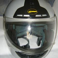Casca moto argintie ZED Helmets mar.XL/ 1420gr ca NOUA