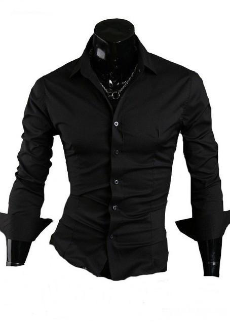 Camasa Slim Fit (Negru sau Alb) - Camasa neagra - Camasa alba