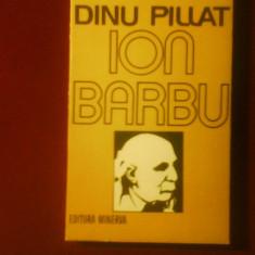 Dinu Pillat Ion Barbu ed. a II-a - Carte Monografie