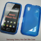 Husa ALBASTRA Samsung Galaxy ACE S5830 MES AIRMESH + folie ecran + expediere gratuita - Husa Telefon