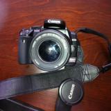 Aparat foto DSRL Canon EOS 400D + obiectiv EF-S 18-55 mm - DSLR Canon, Kit (cu obiectiv), 10 Mpx