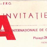 Invitatie Campionatele Internationale de Gimnastica ale Romaniei 1985