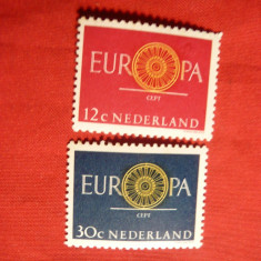 Serie - Europa CEPT 1960 Olanda, 2 val. - Timbre straine, Transporturi