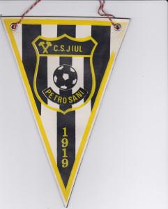 Fanion fotbal CS JIUL PETROSANI
