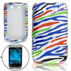 husa silicon rigid  slide zebra stripes Blackberry 9800 torch