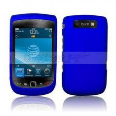 Husa albastra blue silicon rigid slide Blackberry 9800 torch - Husa Telefon