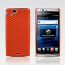 Husa silicon rigid antiradiatii mesh portocaliu Sony Ericsson Arc LT15i Lt18i X12 orange