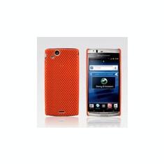 Husa silicon rigid antiradiatii mesh portocaliu Sony Ericsson Arc LT15i Lt18i X12 orange