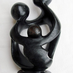Superba sculptura in marmura neagra