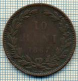604 MONEDA  VECHE- ROMANIA - 10 BANI  -anul 1867 HEATON  -starea care se vede