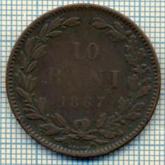 604 MONEDA VECHE- ROMANIA - 10 BANI -anul 1867 HEATON -starea care se vede - Moneda Romania