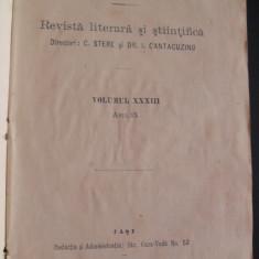 C.Stere, I.Cantacuzino, Viata romaneasca, anul IX, Vol XXXIII, 1914, incompleta