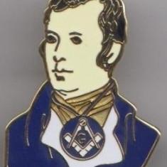Insigna mason - Benjamin Franklin - Insigna Barbati