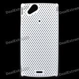 Husa silicon rigid  mesh alb Sony Ericsson Arc LT15i Lt18i X12 + folie