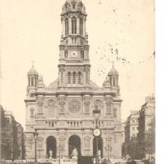 CPI (B2570) FRANTA. PARIS. EGLISE DE LA TRINITE, CIRCULATA 1906, STAMPILE, Printata
