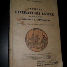 Istoria literaturii Latine - I. Lavaori, C. Papacostea Gh. Popa-Lisseanu - Carte Editie princeps