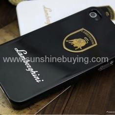 husa antiradiatii protectie iphone 4 model LAMBORGHINI + folie protectie ecran