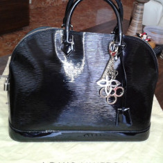 Geanta Louis VUITTON - Geanta Dama Louis Vuitton, Geanta umar manere scurte, Negru, Piele, Mare