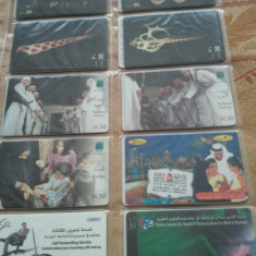 Lot 20 cartele telefonice Emiratele Arabe Unite 4 + folie de plastic + taxele postale = 30 roni - Cartela telefonica straina