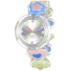 Vand ceas nou Swatch PMK156A model Candy Heart - Ceas dama Swatch, Casual, Quartz, Plastic, Analog, Diametru carcasa: 32