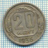 647 MONEDA VECHE - RUSIA (URSS) - 20 KOPEKS  -anul 1936  -starea care se vede