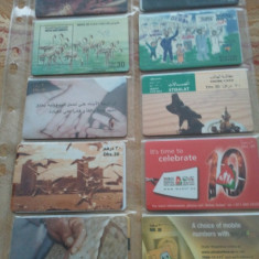 Lot 20 cartele telefonice Emiratele Arabe Unite 3 + folie de plastic + taxele postale = 30 roni