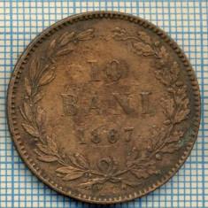 682 MONEDA VECHE - ROMANIA - 10 BANI -anul 1867 WATT&CO -starea care se vede - Moneda Romania
