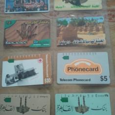 Lot 8 cartele telefonice Egipt + fara folie de plastic + taxele postale = 20 roni - Cartela telefonica straina