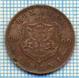 719 MONEDA VECHE - ROMANIA - 2 BANI -anul 1900 -eroare batere,uzura matrita, liniuta A de la Carol, si cap spart R de la Rege-starea care se vede