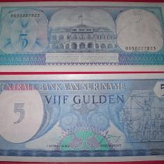 SURINAME 1982 - 5 GULDENI - UNC