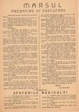 Foaie militara Marsul Pregatire si executare anii 1944 - 1945