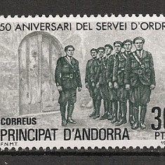 Andorra Spaniola.1981 50 ani Militia Populara  SA.19