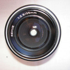 Obiectiv foto Revue 3, 5/35 pe filet de 42 - Obiectiv DSLR, Wide (grandangular), Manual focus