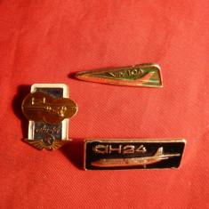 3 Insigne Aviatie -An 14 ,An24 ,Tu 104 -URSS