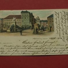 Carte postala VIENA - WIEN - Aspernbrücke 1900