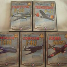 Vand set 5 dvd-documentare avioane de lupta din cel de-al doilea razboi-originale, netraduse - Film documentare