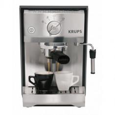 Espressor Krups XP5240, 1400W, 15 bar, 1.1 l, inox/negru - Espressor Manual Krups, Cafea macinata