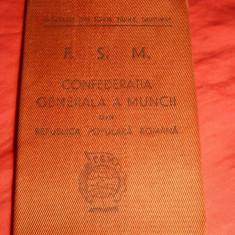 Carnet de Sindicat FSM -1945 - Diploma/Certificat