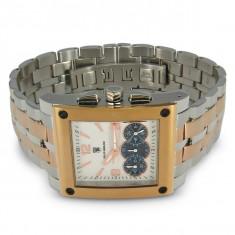 CEAS de LUX super ceas POLITI OROLOGI chronograph placat cu AUR, mecanism japonez CITIZEN-MIYOTA, 5ATM WATER RESISTANT, nou CUTIE - Ceas barbatesc Citizen, Lux - elegant, Quartz, Cronograf