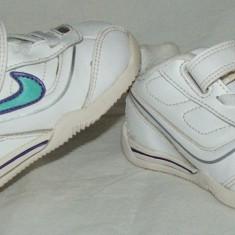 Adidasi copii NIKE - nr 21, Piele naturala, Alb