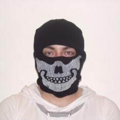 Cagula craniu de culoare neagra, masca protectie fata, scuter, ski, airsoft - Echipament ski, Protectii
